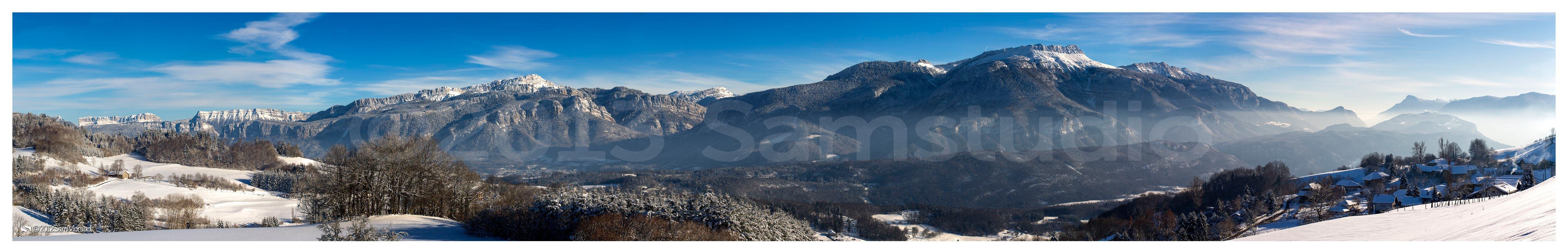 Photo panoramique géante