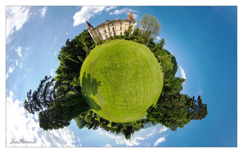 Vue Mini-planète château voiron