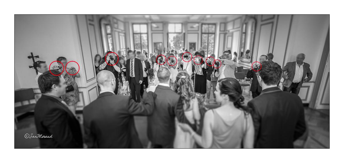 Mariage invités photographes