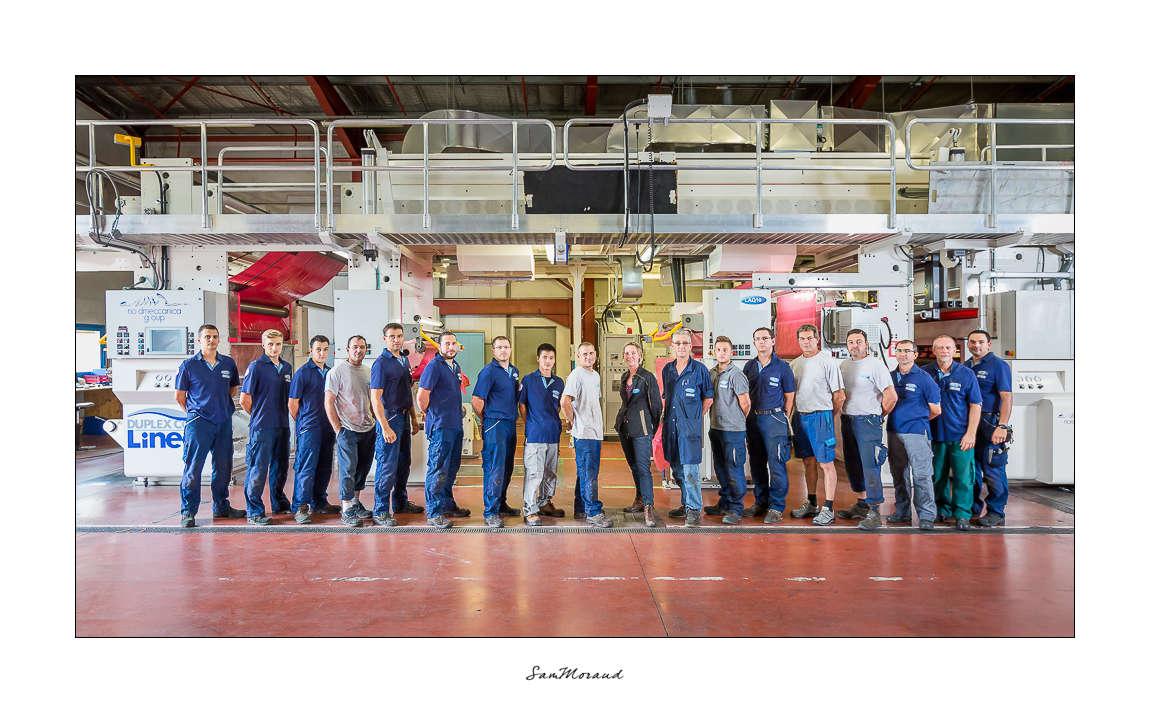 Portrait groupe entreprise