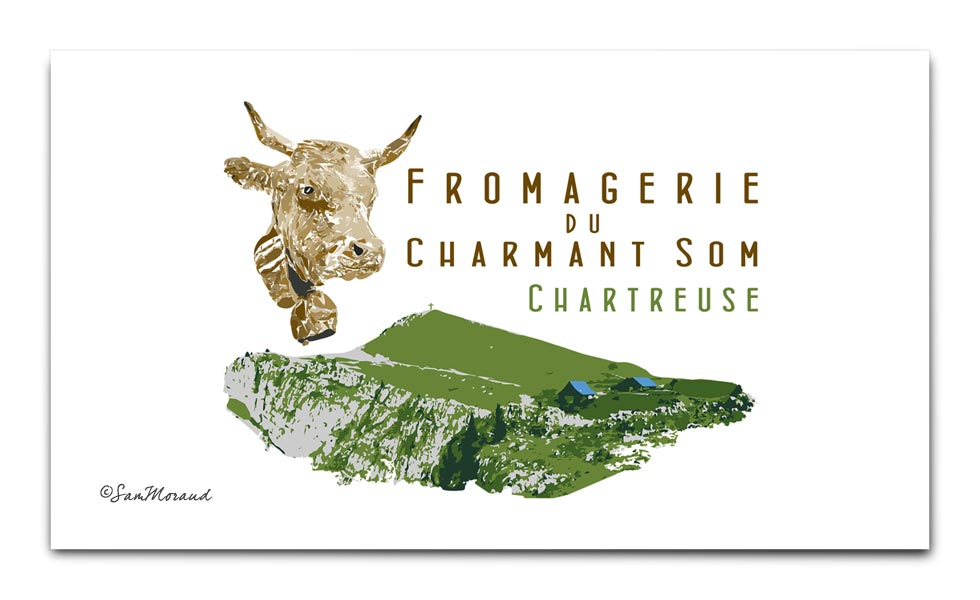Illustration Fromagerie Du Charmant Som Chartreuse
