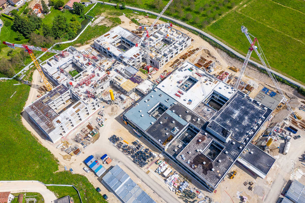 Photographie drone chantier