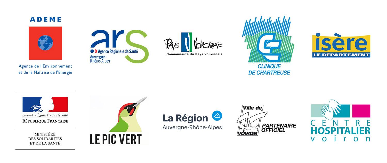 Logos Partenaires Hopital Voiron